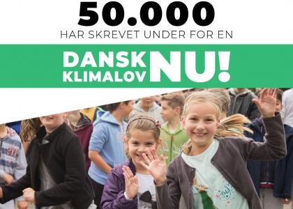 50.000 er hjemme! Underskriftsindsamlingen fortsætter